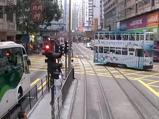 跑馬地からの合流 - 香港トラム