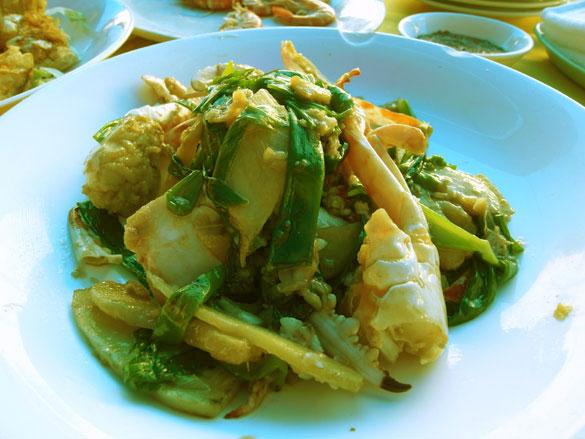 蟹の生姜と葱炒め - 西貢 (Sai Kung サイクン)