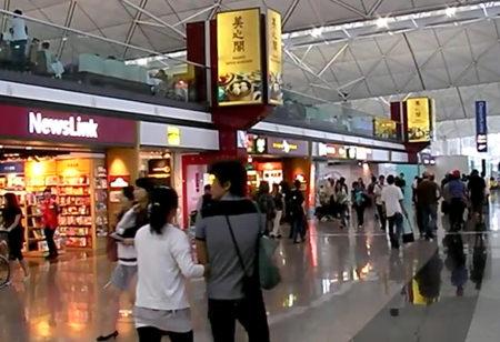 香港国際空港 T1・6F出発フロアのショップ