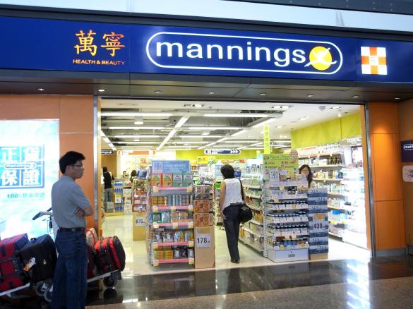 萬寧 mannings - 香港国際空港 T1・6F出発フロア