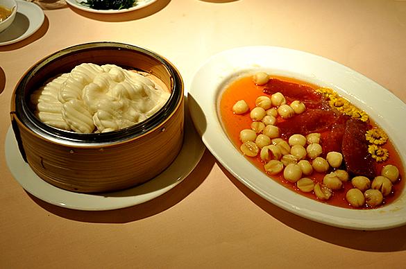 金華ハムと菊花の蒸煮 - 明閣 Ming Court