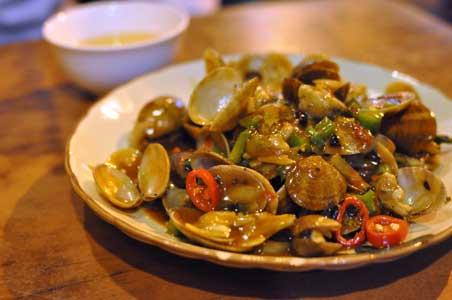 豉椒炒蜆 - 坤記煲仔小菜