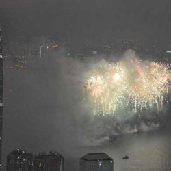 香港の春節花火大会