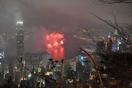 盧吉道 - 香港の春節花火大会