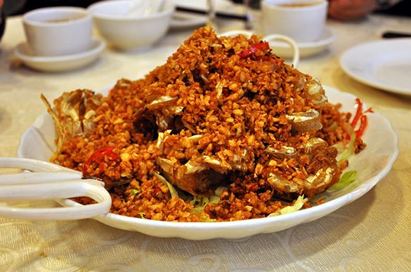 シャコのガーリック炒め - 竹園海鮮飯店