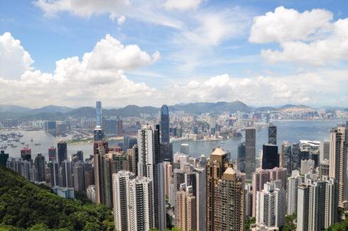 写真:香港島エリアの様子