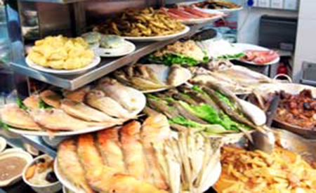 写真:潮州料理の様子