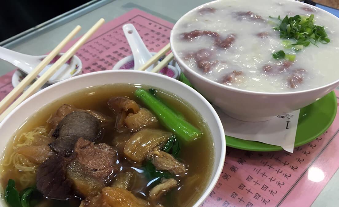 写真:粥・麺の様子