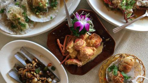 写真:海鮮料理の様子
