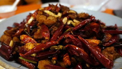 写真:四川料理の様子